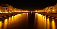 Central Bridge of Pisa (Lorenzo Pacifico2011) Tags: city bridge water night river photo reflex nikon foto fiume central ponte pisa di luci d100 arno acqua notte citt riflesso mezzo