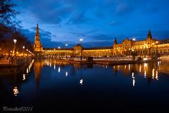 Plaza de España (protsalke) Tags: light night sevilla nocturna top25fav tokina2035 anawesomeshot d700