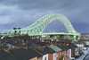 Runcorn Bridge (Si Bart) Tags: bridge england silver river nikon arch unitedkingdom steel jubilee span mersey runcorn widnes silverjubileebridge d5200