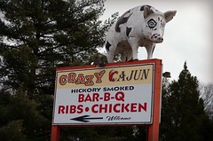 Crazy Cajun (ANC'N'VA) Tags: vintage 50mm virginia pig george king pentax route va signage americana f18 301