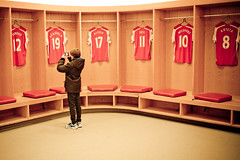 Emirates Home Dressing Room (cracurs) Tags: red orange 35mm canon stadium emirates m42 flektogon canon5d postprocess arsenal manualfocus lightroom preset carlzeissjena primelens manuallens flektogon35mm24 lightroom3 35mm24
