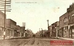Main Street USA-Kansas Avenue (Dirt Street), Marceline, MO postcard early 1900's