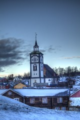 Røros 2015 IV (Ana Jones do Carmo) Tags: snow church norway landscape norge røros hdr 3xp
