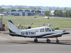 G-BTNH Piper Cherokee Warrior (Aircaft @ Gloucestershire Airport By James) Tags: james airport gloucestershire warrior cherokee piper lloyds egbj gbtnh