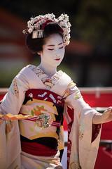 (byzanceblue) Tags: cute beauty japan japanese dance kyoto bokeh traditional maiko geiko geisha     kimono   kanzashi