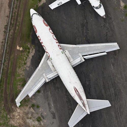 Boeing 737 da Rico abandonado em São José dos Campos (via Instagram Fotografias Aéreas)