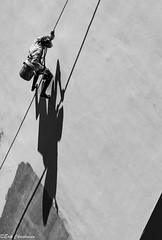c20140317NDX_5678-Edit (youngman242) Tags: bw white man monochrome wall shaddow vietnam painter worker safetyfirst nhatrang khanhhoa