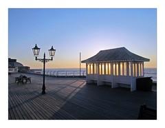 Jewellery Box (mr_snipsnap) Tags: morning sunlight reflection sunrise dawn coast pier seaside norfolk resort shelter cromer