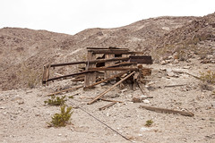 Tram station ruins (Underground Explorers) Tags: california abandoned underground mine valley explorers exploration panamint