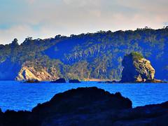 Blue water I (elphweb) Tags: ocean sea water coast seaside rocks coastline hdr rockformations