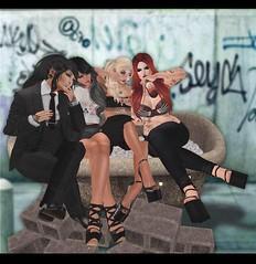 Beez, Night, Angel, and Jen (beezy.sorbet) Tags: party fab reunion fun alcohol bathtub goodtimes besties longtimefriends girlsjustwannahavefun werock wedrunk