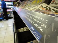 WHSmith (stevenbrandist) Tags: travel sign airport heathrow newspapers whsmith travelogue
