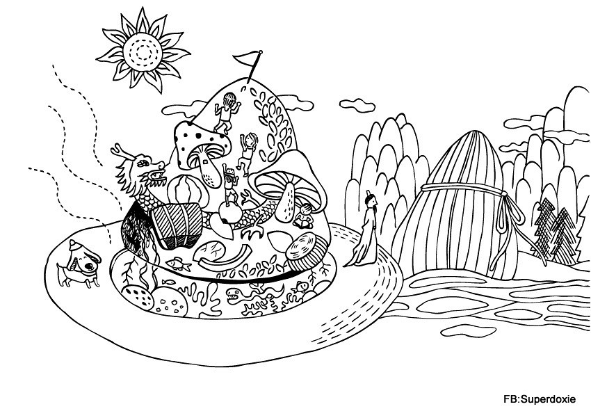 The world 39 s best photos of coloring and page flickr hive for Dragon boat coloring pages