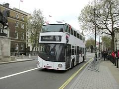 LT700, Whitehall, London, 22/04/16 (aecregent) Tags: sky 3 london wright hybrid whitehall lt nb4l nbfl newroutemaster abellio skyq newbusforlondon abelliolondon borismaster 220416 lt700 ltz1700 londonbuses2016 fluidviewing