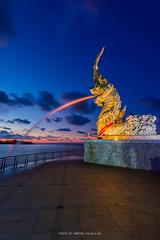 THE GREAT NAGA (::: a j z p h o t o g r a p h y :::) Tags: cloud monument statue thailand belief songkhla merlion naga twilightsky