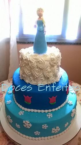 Bolo Frozen (Princesa Elsa)