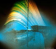 Obra abandonada en Alicante, Ciudad de la Luz III (Solarigrafa / Diego Lpez Calvn) Tags: longexposure sun sol weather experimental alicante astronomia atmosfera crisis pinholephotography estenopeica tiempo clima largaexposicin frameworks encofrado sunpath solarigrafia ciudaddelaimagen solarigraphy suntrack solargraph fotografaalternativa diegolpezcalvn caminosdelsol
