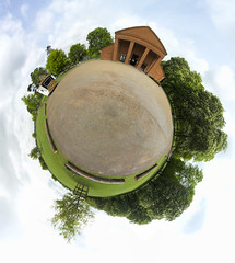 Coombe Park Visitor Centre Coventry (msscoventry) Tags: fisheye falcon planet 8mm samyang littleplanet