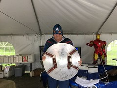 """Scott with the Captain America Shield • <a style=""""font-size:0.8em;"""" href=""""http://www.flickr.com/photos/28558260@N04/27091177215/"""" target=""""_blank"""">View on Flickr</a>"""