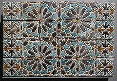 Ceramic wall tiles with intricate star and interlace patterns - Morocco, 15-16th Centuries (Monceau) Tags: wall ceramic star design colorful morocco tiles interlace 16thcentury intricate musedulouvre