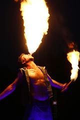 Enchanted Flame 4 (arkansasjournal) Tags: park boy man guy tourism fire littlerock circus flames event arkansas wildwood performer wildwoodpark fireperformance arkansasjournal arkansasnews