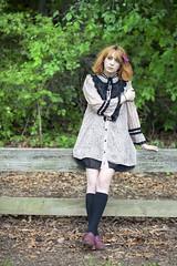 (sarajdsign) Tags: park new york orange fashion japan forest hair harajuku