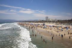 Crowded Beach (etzel42) Tags: ocean california santa ca pier santamonica socal monica boardwalk westcoast