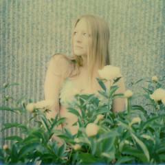 untitled (Britt Grimm) Tags: selfportrait film vintage garden polaroid girly peony instant expired expiredfilm instantphotography polaroidsx70 instantfilm filmisnotdead impossibleproject snapitseeit