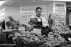 Neil's Greengrocers - Kirkgate market, Leeds. (MAMF photography.) Tags: uk greatbritain england blackandwhite bw blanco monochrome photography photo blackwhite google nikon flickr noir image noiretblanc market zwartwit unitedkingdom britain yorkshire negro north leeds vegetable gb upnorth zwart pretoebranco schwarz biancoenero westyorkshire marketstall googleimages greengrocers northernengland leedsmarket enblancoynegro zwartenwit kirkgatemarket mamf inbiancoenero blancoenero schwarzundweis mamfphotography