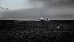 Dakota Isolation (Kev.s) Tags: blackandwhite bw iceland crash wreck dakota planecrash dakotacrash