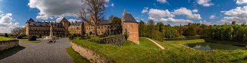 Panorama.  Gaasbeek Castle, Belgium