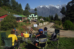 Breakfast At Auli (AmitabhaGupta) Tags: camping india breakfast trekking hiking hillstation auli uttarakhand