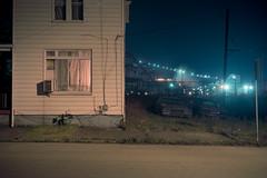 (patrickjoust) Tags: braddock pennsylvania pittsburgh steelmill car house fujicagw690 kodakportra160