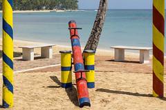 seesaw (rey perezoso) Tags: ocean beach colors playground coast daylight mar meer outdoor seesaw naturallight playa hispaniola republicadominicana lasterrenas nofilter caribe samana 2016 quisqueya