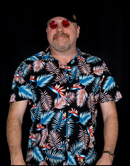 The shirt Hawaiian style. (CWhatPhotos) Tags: pictures camera summer sun holiday man color colour male colors hat shirt that lens beard fun photography foot prime hawaii goatee glasses cool shoes colours foto bright image artistic time pics colorfull pair hula picture hats pic olympus images shades wear ox have mans photographs photograph ii fotos mens hawaiian colored colourful coloured which 45mm mk multi contain omd hawai hol hawiian primark em10 cwhatphotos