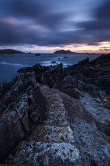 Stairway to the Blaskets (Graham Daly Photography (ASINWP)) Tags: ocean longexposure travel ireland sunset clouds outdoors twilight seascapes dusk fineart shoreline dingle coastal magichour dinglepeninsula countykerry landscapephotography blasketislands irishlandscapes leefilters irishphotographer canon6d landscapesofireland grahamdalyphotography dingletripapril2016 blasketsunset stairwaytotheblaskets