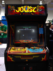 welcome to joust (Ian Muttoo) Tags: ontario canada game williams cabinet arcade gimp videogame mississauga joust arcadegame ufraw eglx enthusiastgamingliveexpo enthusiastgamingliveexpo2016 dsc57081edit