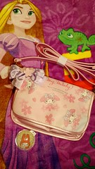 Tangled Towel & My Melody Shoulder Bag (Suki Melody) Tags: pink cute rabbit bunny beach swim bag cherry phone blossoms towel disney sanrio melody purse pouch kawaii strap sakura pascal shoulder rapunzel trinket tangled adjustable
