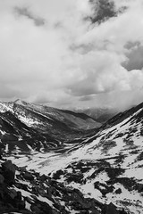 Heaven (Shakti Priyan Nair) Tags: trip blackandwhite white mountain snow black mountains monochrome landscape cloudy outdoor pass snowcapped leh ladakh khardungla highest clouded motorable