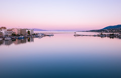 Calmness (Niarchos Konstantinos Photography) Tags: travel sunset sea summer sky seascape reflection water port landscape calm lesvos calmness mitylene mytilini