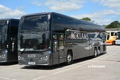 Acklams Beverley YX16NWH. (EYBusman) Tags: road park new bus volvo coach yorkshire east deck independent elite brand coaches beverley bridlington plaxton triaxle acklams hilderthorpe eybusman b11r yx16nwh