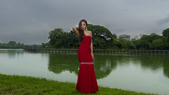Contrasting Colors (Cho Shane) Tags: red sky woman lake green nature water girl beautiful beauty clouds wow wonderful grey amazing nice model nikon pretty dress cloudy yangon flash gray sigma wideangle lakeside flashphotography stunning beautifulwoman myanmar beautifulcolors dslr naturalbeauty wonderland amateur ultrawide cloudporn beautifulview reddress prettygirl greysky beautifulgirl naturephotography cloudyday modelshoot wonderlust sigmalens amazingview beautifulcomposition amazingshot stunningbeauty amazingbeauty stunningview kandawgyilake stunningshot amazingsight dslrcamera amazingcomposition dslrphotography sigma1750 flashflavor nikond5300