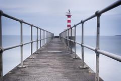 Amble Pier (aaronlambert1982) Tags: ocean longexposure sea lighthouse seascape pier nikon harbour calm northumberland grad tranquil amble coquet coquetisland leefilters leebigstopper nikond7100