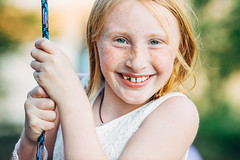summer freckle (vujade762) Tags: red summer portrait cute girl hair photography ginger nashville head teeth rope swing freckle