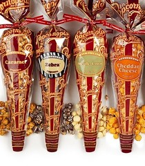 Popcornopolis Gourmet Popcorn - 4 Cones - White Cheddar, Zebra, Caramel & Kettle - Small Storage Space Friendly & Great Stocking Stuffers! (Good Food and Great Places to Eat) Tags: white space small great storage gourmet kettle caramel popcorn zebra friendly stocking cheddar cones popcornopolis stuffers