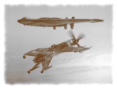 1:72 Focke Wulf Ta 338 A-1/R2, aircraft X+  Red of II./EK338 (attached to JG300), Deutsche Luftwaffe; Dortmund, April 1945 (Whif/scratchbuilt) (dizzyfugu) Tags: fiction vertical weird model tank aviation salmon landing bmw take kit ek ta 213 hydra luft pogo mk 803 46 radial vtol interceptor 1946 fictional kitbash modellbau luftwaffe wulf 338 rlm focke xfy1 contraprop xfv1 kappus dizzyfugu erprobungskommando sciencfe