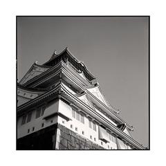 castle  osaka, kansai  2015 (lem's) Tags: castle japan rolleiflex osaka chateau kansai japon planar