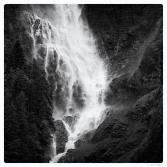 168/366 black white day (tideloon) Tags: blackandwhite mountain june forest square landscape waterfall spray fujifilm entwicklung 2016 blackwhiteday 366dayproject fujifilmxt1 366the2016edition 3662016