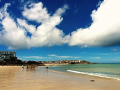 St Ives - June 2016 (sipper666) Tags: sea holiday beach water clouds sand dramatic sunny bluesky stives westcornwall porthminsterbeach