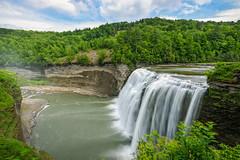 Middle Falls (Explored) (Benjamin Sullivan) Tags: statepark park travel mist newyork nature water forest river outdoors waterfall crash large rapids massive huge upstatenewyork gorge roar geneseeriver destinations